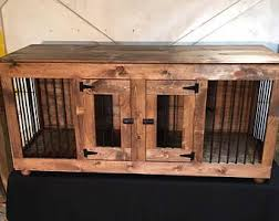 Dog crate furniture