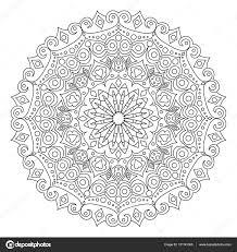 Mandala Kleurplaat Boek Vectorillustratie Stockvector