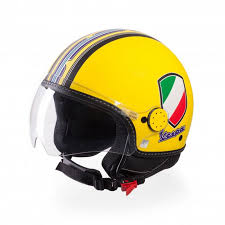 Vespa V Stripes Helmet Yellow