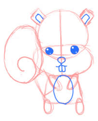 Small Picture How to Draw a Chibi Squirrel