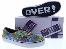 vans nintendo shoes. vans mens authentic nintendo super mario brothers skate shoes vn0004mljpa
