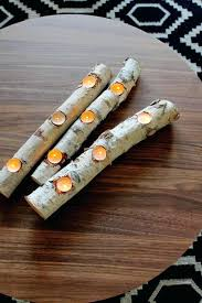 tealight fireplace logs view in gallery birch log candle holder for tea lights tealight fireplace log