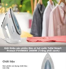 Bàn ủi hơi nước Tefal Smart Protect FV4980E0 2600W (Trắng phối xanh): Mua  bán trực tuyến Bàn ủi với giá rẻ