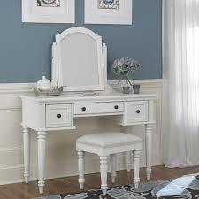 bedroom vanity sets white. Home Styles Bermuda 3-Piece White Vanity Set Bedroom Sets