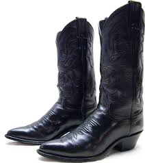details about womens justin 4904 black leather cowboy western boots sz 5 5 1 2 b made in usa