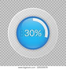 30 Percent Pie Chart Vector Photo Free Trial Bigstock