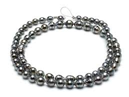 32 inch 8mm 10mm tahitian pearl necklace baroque south sea aaa 32inch s5 clabc52 grey color b245 american pearl