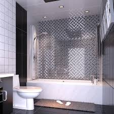 black art hand painted design glass mosaic tile silver metal coating glass tile washroom kitchen room wall