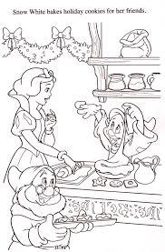 白雪姫と小人 料理 塗り絵 ディズニーキャラクターのぬりえ塗り絵