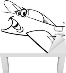 Poster Lage Vleugel Vliegtuig Kleurplaat Pixers We Leven Om Te