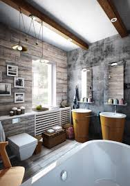 Barnwood Bathroom Small Industrial Apartment With Exposed Brick Walls Digsdigs
