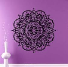 Mandala Indian Designs 29 Designs Round Mandala Wall Vinyl Decal Indian Ornament Sticker Religions Home Decor Mehendi Flower Murals Housewares Design