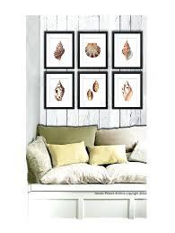 coastal decor wall art set of 6 sea s home decor art prints beach themed living