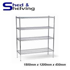 picture of wire shelving unit chrome 1200mm