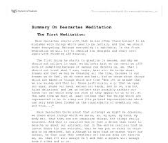 summary on descartes meditation gcse religious studies  document image preview