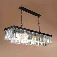 chandeliers rectangle crystal chandelier minimalist luxury modern light for living room re long hanging