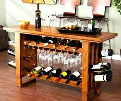 wooden wine rack plans racks making a homemade from console bar table bottle and glass holder