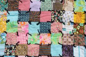 retro vintage boho crazy quilt, patchwork blocks in bright cotton ... & retro vintage boho crazy quilt, patchwork blocks in bright cotton prints &  colors Adamdwight.com