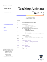 Training Agenda Teaching Assistant Training Agenda