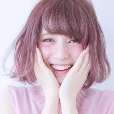 心躍る2017のヘアカラーはコーラルピンクで淡くかわいく Naver