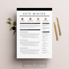 resume template 5 page pack cv template cover letter for resume template 4 pages cv template cover letter for ms word instant digital the parisian