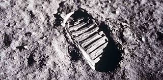 Image result for footprint on the moon