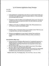 Common Application Essay 2015 16 Common App Essay Examples