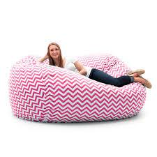 l twill bean bag sofa pink and white chevron walmart