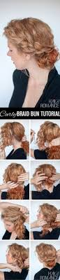 Second Day Curly Hairstyles 25 Best Ideas About Curly Bun Hairstyles On Pinterest Curly Bun