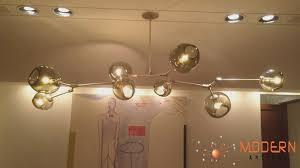furniture branching bubble modern chandelier glass light revit