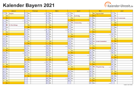Alle ferienkalender kostenlos als pdf, mit feiertagen. Feiertage 2021 Bayern Kalender