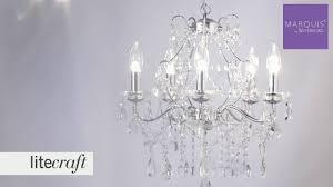annalee large led 5 light bathroom chandelier chrome litecraft lighting your home