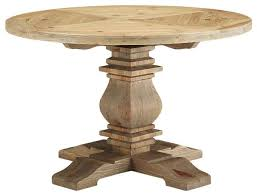 stitch 47 round pine wood dining table in brown