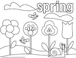 Picture Of Springtime Coloring Page Download Print Online