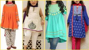Pakistani Kids Salwar Kameez Designs Latest Lawn Dresses Shalwar Kameez Trousers Shirt Frocks Designs For Kids Baby Girks