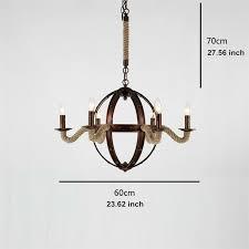 led ceiling light vintage chandelier looby rope pendant lighting dinning room 3 3 of 8
