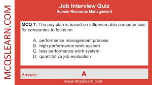 Job Interview Quiz Mcqslearn Free Videos