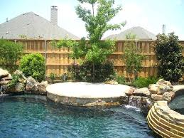 pool privacy ideas patio privacy screen ideas pool with wood fencing stone coping water feature ideas