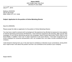 Unsolicited Cover Letter Sample Unsolicited Job Application Letter Format Resume Example