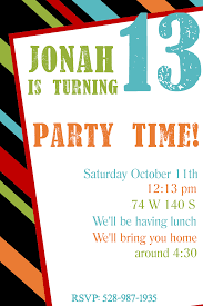 Free Birthday Invitations Templates For Kids Free Printable Birthday Party Invitation Templates for Teenagers 1