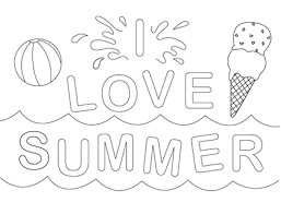 Small Picture Happy Summer Coloring Page GetColoringPagescom