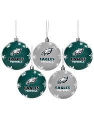 philadelphia eagles ornament set