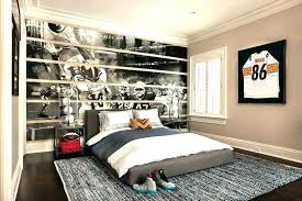 simple bedroom for boys. Amazing Top Rated Boys Bedrooms Ideas Pictures Interesting Football Wall Decal Decorating Simple Bedroom Design Games . For