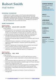 Staff Auditor Resume Samples Qwikresume