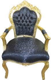 Casa Padrino Barock Esszimmerstuhl Schwarz Muster Gold Mit Armlehnen 53 X 57 X H 108 Cm Antik Stil Möbel Yategocom