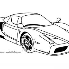 Ferrari Enzo Auto Kleurplaat Kostenlose Kleurplaten Printen Bilder