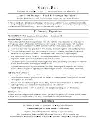 Supermarket Manager Resumes Food Store Manager Sample Resume Podarki Co
