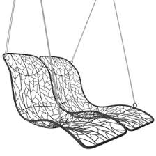 hanging lounge chair. Exellent Chair Zoom Image Double Recliner Hanging Chair Contemporary Industrial Organic  MidCentury Modern Metal Lounge With M