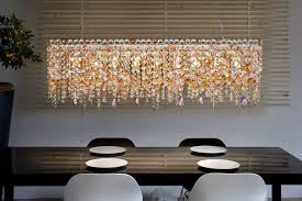 ottocento multicoloured rectangular chandelier masiero
