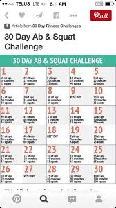 30 Day Ab And Squat Workout 30 Day Abs 30 Day Abs 30
